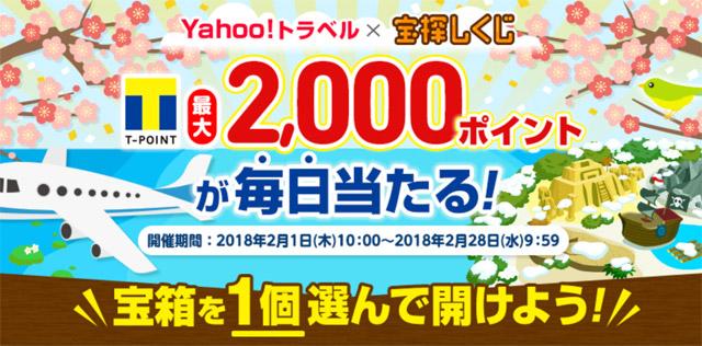 Yahoo!トラベル×宝探しくじキャンペーン
