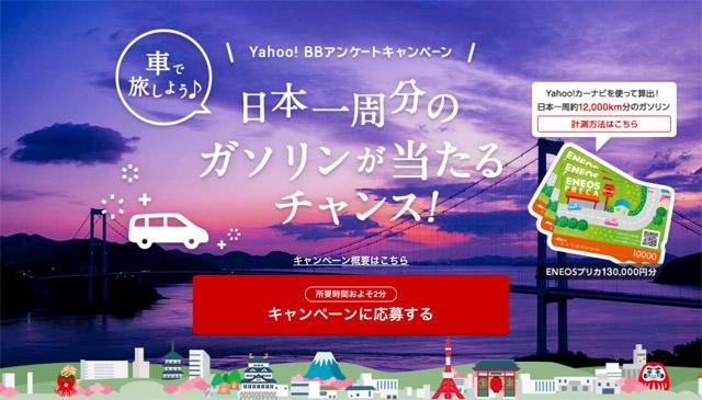 YahooBBのプレゼントキャンペーン