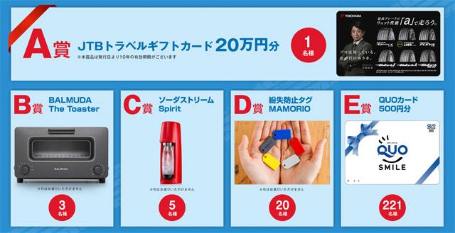 横浜タイヤのプレゼントキャンペーン