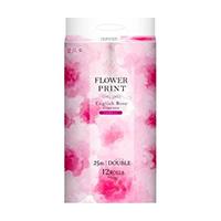 花束フラワープリント トイレットペーパー